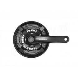 Shimano Tourney FC-TY501 28/38/48 LV 170mm kerékpár hajtómű fekete