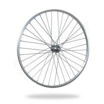 Kerékpár fűzött hátsó kerék 26 MTB (559) alu felni ezüst, acél agy VR