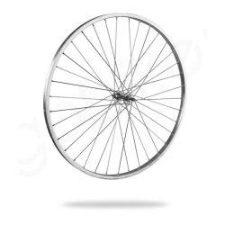 Kerékpár fűzött első kerék 26x1 3/8 (590) alu felni, acél agy
