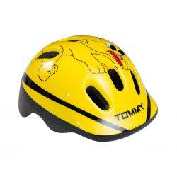 BikeFun-Ducky-Tommy-kutyas-sarga-gyermek-kerekparos-fejvedo-XS-44-48