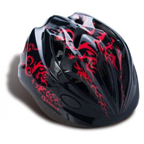 BikeFun-Moxie-gyermek-kerekparos-fejvedo-fekete-piros-M-52-56