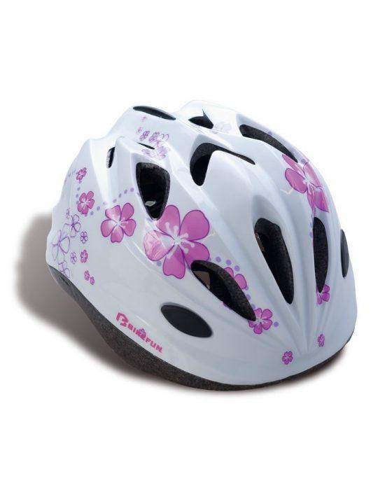 BikeFun-Moxie-gyermek-kerekparos-fejvedo-feher-M-52-56