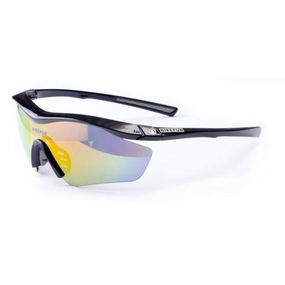BikeFun-AirJet-cserelheto-lencses-kerekparos-szemuveg-fekete. • Kerékpáros ab4f30f2ff