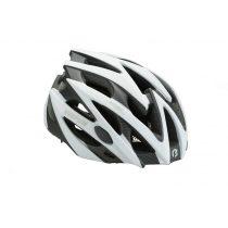 BikeFun Edge felnőtt kerékpáros fejvédő L fehér-karbon mintás