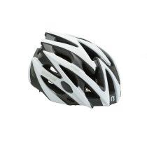 BikeFun Edge felnőtt kerékpáros fejvédő M fehér-karbon mintás