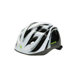 BikeFun Junior gyermek kerékpáros fejvédő fekete-fehér S (48-52 cm)