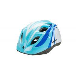 BikeFun Junior gyermek kerékpáros fejvédő kék-fehér S (48-52 cm)