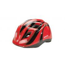 BikeFun Junior gyermek kerékpáros fejvédő piros-fekete S (48-52 cm)