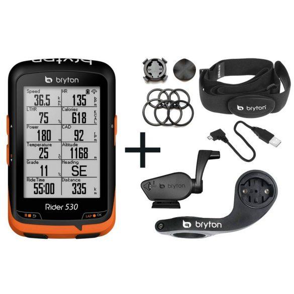 Bryton-Rider-530T-GPS-kerekpar-computer-szett