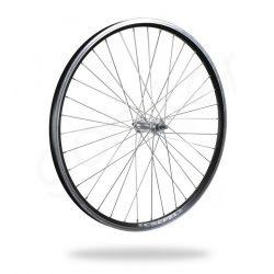 Kerékpár fűzött első kerék 26 MTB (559) DF alu felni fekete, alu agy