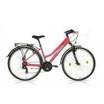 Csepel Traction 100 28/17 női trekking kerékpár matt piros