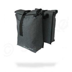Velotech 2 részes csomagtartó túratáska szürke