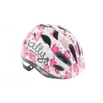 Kellys KLS Buggie white flower gyermek kerékpáros fejvédő M
