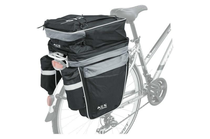 2fc6d30a61d7 Kellys KLS Trial 3 részes kerékpár csomagtartó táska fekete-szürke ...