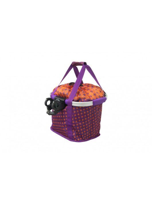Kellys KLS Shopper purple-orange textil levehető kerékpár első kosár