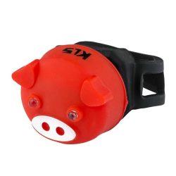 Kellys KLS Piggy kerékpár hátsó villogó lámpa piros