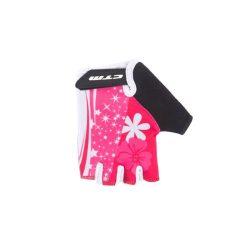 CTM Barbie rövid ujjú gyermek kerékpáros kesztyű rózsaszín XS