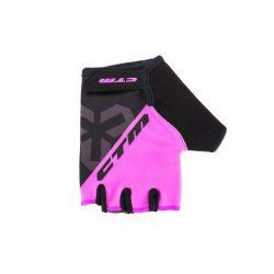 CTM rövid ujjú gyermek kerékpáros kesztyű rózsaszín S