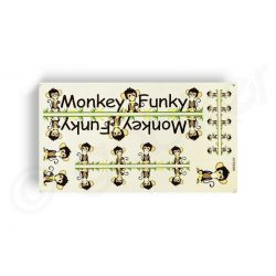 Kerekpar-matrica-20x35cm-Monkey-Funky-barna-zold