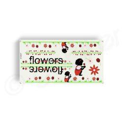 Kerekpar-matrica-17x35cm-Flowers-fekete-bordo
