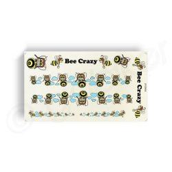 Kerekpar-matrica-20x35cm-Bee-Crazy-kek-barna