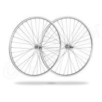 Kerékpár fűzött kerékszett 28 országúti (622) DF ezüst felni, ezüst agyak