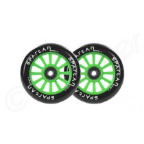 Spartan Sport 100mm roller kerék csapággyal zöld