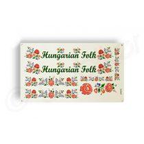 Kerekpar-matrica-20x35cm-Hungarian-Folk-rozsa-piros-zold