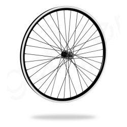 Kerékpár fűzött első kerék 26 MTB (559) DF alu felni fekete-alu agy