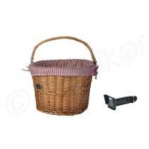 Spencer konzolos kerékpár fonott textiles első kosár