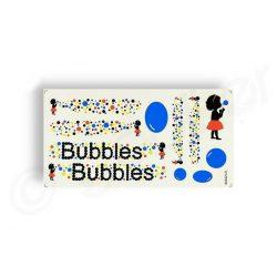 Kerekpar-matrica-17x35cm-Bubbles-kek-fekete