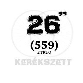 26 coll kerékszett (559 MTB)