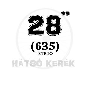 28 coll hátsó kerék (635)