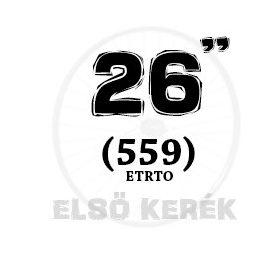 26 coll első kerék (559 MTB)